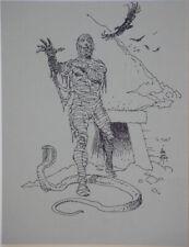 WILLIAM STOUT original art, The MUMMY, 1999, Wm, Horror, Snake, 8.5x11