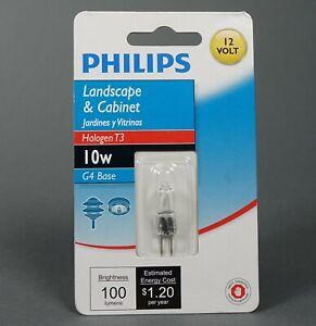 Lot of 6 Philips 12V 10W G4 Clear Halogen Light Lamp Bulb 2000H Life Landscape