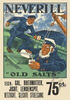 Neverill Sailors Remedy Salts Huge Canvas Art Print