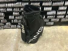 "NICE Professional PING GOLF BLACK 8.5"" STAFF BAG 6-Way Divided Carry Strap Used"