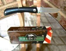 Bear & Son Cutlery Usa Model 737 Farm Hand Sodbuster Single Blade Pocket Knife