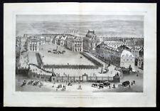 Palacio de Versalles 1870 distribución del Hierro Cruces Grabado