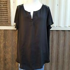 Torrid black top blouse short sleeve size 1