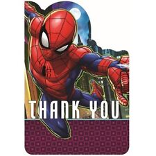 SPIDER-MAN Webbed Wonder THANK YOU NOTES(8) ~ Birthday Party Supplies Stationery