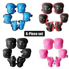 6pcs Roller Skating Protective Gear Set Elbow Knee Pads Wrist Guard For Kids