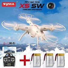 SYMA X5SW WiFi FPV 2.4Ghz 4CH RC Quadcopter Drone 2MP HD Camera RTF +3 Batteries