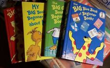 Lot/4 Dr Seuss, The Big Books of Beginners, Blue, Green Red and Yellow Hardbacks
