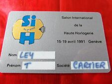 TRES RARE CARTE DE SALON - HAUTE HORLOGERIE - GENEVE - CARTIER - 1991