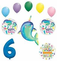 Mayflower Products Narwhal Party Supplies 6th Birthday Mermaid Balloon Bouquet