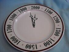 "Syracuse 2000 Millennium Chop Clock Plate 12"" Vintage"