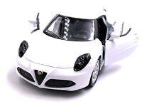 Alfa Romeo 4c Coche Deportivo a Escala Auto en Blanco 1 :3 4 (con Licencia)