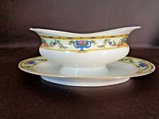 Vintage Victoria China Gravy Boat With Underplate Czechoslovakia (Cat.#11T004)