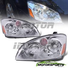 For 2005 2006 Nissan Altima 4Dr Sedan Factory Style Chrome Headlights Pair