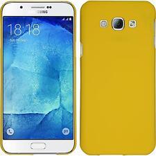 Custodia Rigida Samsung Galaxy A8 (2015) - gommata giallo + pellicola protettiva
