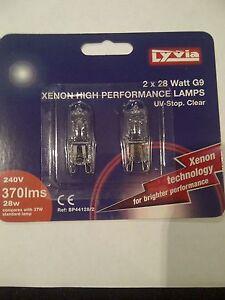 G9 Halogen Capsule Light Bulbs18W/ 25W/28W/40W/42W/ 60W Clear 240V Branded