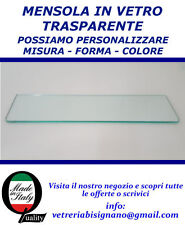 MENSOLA IN VETRO 45 X 15 CM SPESS 5 MM ANGOLI ARROTONDATI IMPERDIBILE!!!!!!