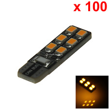 100x Yellow Car T10 W5W Side Light Lamp Marker Lamp Canbus Error Free 12 2835 SM