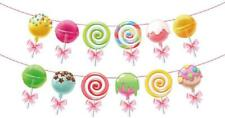 Anor WishLife Candyland Banner,Lollipop Banner,Rainbow Candy Banner,Donut Banner