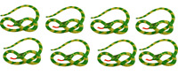 8 X Grande 230cm Gonfiabile Verde Serpente Hawaiano Spiaggia Jungle Party X99140