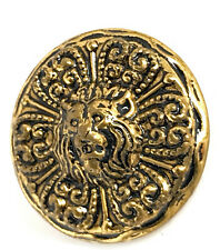 """6 15//16/""""  25mm Pewter  LION HEAD Metal Shank Back  Buttons"""