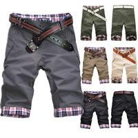 Summer Beach Mens Casual Baggy Shorts Pockets Cargo Short Pants Checks Trousers