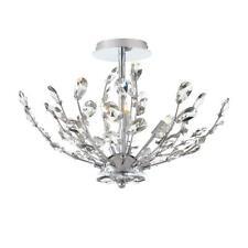 Home Decorators Hetcherson 20 in. 4-Light Chrome Semi Flush Mount with Crystal