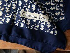 Foulard vintage Christian Dior soie monogramme