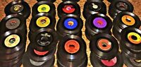 "Big Lot of 25 Vinyl 7"" Records FOR CRAFTS 45rpm JukeBox Discs 45s CRAFTING 45's"