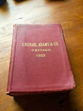 Vintage Crerar Adams & Co. Railway Supplies Book | 1922 Chicago