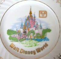 Walt Disney World Cinderella Castle Plate Made in Japan Vintage Souvenir
