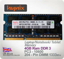 SK Hynix: 4GB 2rx8 PC3 - 12800 DDR3 1600 Mhz 204 pin Laptop/Notebook/Tablet Ram