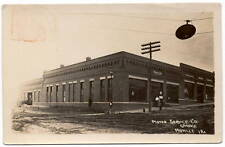 Real Photo Postcard Motor Service Co Automotive Garage in Moville, Iowa~106698