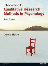 Introduction to Qualitative Research Methods in Psychology, Howitt, Dr Dennis, V