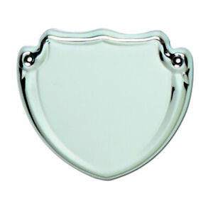 Trophy Side Shield (S005) - Silver / Chrome / (Metal) - With Free Engraving