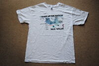 PAUL WELLER WAKE UP THE NATION WHITE T SHIRT NEW OFFICIAL MOD JAM STYLE COUNCIL