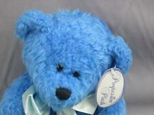 NEW TIE ME TO A VASE BLUE BEAR RIBBONS DUSTY TEDDY PLUSH STUFFED ANIMAL TOY