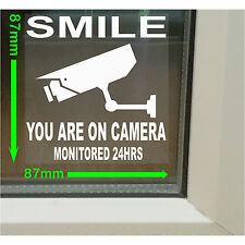 6 x Smile You Are On CCTV-Camera Security Warning Internal Window Stickers,Signs