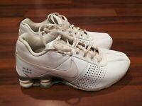 Nike Shox 318130-111 Athletic Training Running Shoes White Leather 2011 Size 4.5