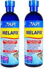 2 x API Melafix 473 ML Each Treats Fin Tail Rot Mouth Fungus Eye Cloud Aquarium