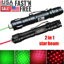 2Pcs 200 Miles Star Light Astronomy Green+Red Laser Pointer Pen Waterproof Lazer