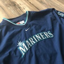 Vintage SEATTLE MARINERS Nike Youth LG Team Blue lightweight pullover