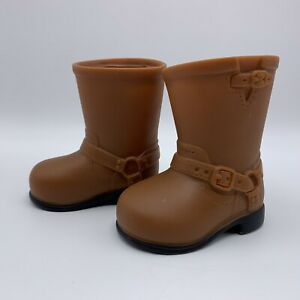 """Battat Brown Harness Riding Boots Doll Shoes American Girl 18"""" Our Generation"""