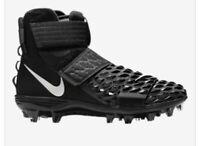 NEW 🔥🔥Nike Force Savage Elite 2🔥🔥 TD Football Cleats Size 10.5,  Black/WHITE
