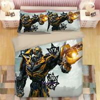 Transformer Bumblebee Bedding Set Duvet Quilt Cover Pillowcase Comforter 3PCS