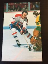 YVAN COURNOYER 1973-74 MONTREAL CANADIENS Team Issued Post Card,VERY RARE !!