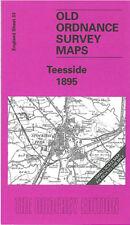 OLD ORDNANCE SURVEY MAP TEESIDE 1895 DARLINGTON MIDDLESBROUGH STOCKTON ON TEES