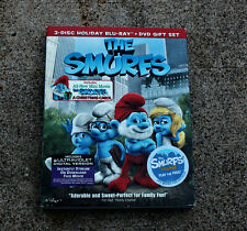 THE SMURFS 3 DISC HOLIDAY BLU-RAY + DVD GIFT SET WITH SLIPCOVER