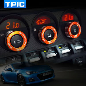 New Car Air Conditioner Switch Knob Ring For Subaru BRZ Toyota 86 AC Knobs Cover