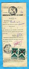 1957 PRUDENZA SULLA STRADA £.25 COPPIA USATI COME SEGNATASSE   (239264)