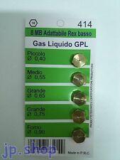 UGELLI CUCINA GAS GPL 8 MB ARISTON REX PIANO COTTURA 4 FUOCHI+FORNO diam.8 mm